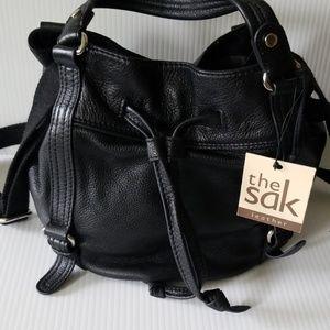The SAK black leather bag